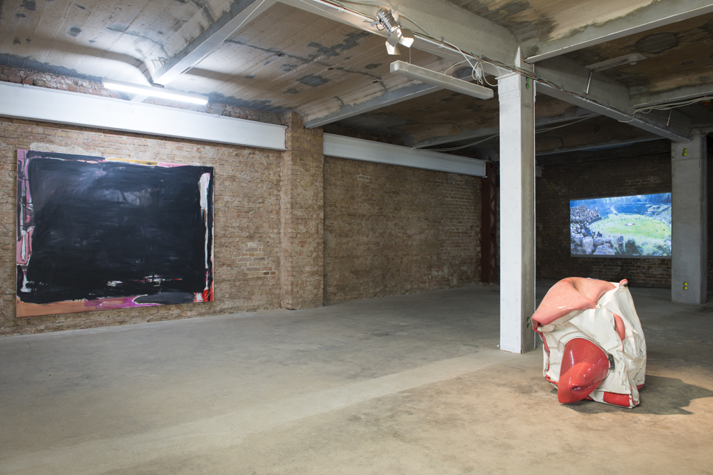 <p>Exhibition View (left-right): Daniel Grüttner, Louise Gibson, Ulu Braun</p>