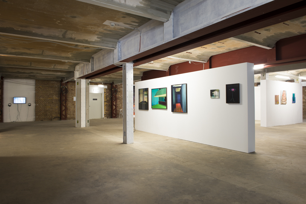 <p>Exhibition View (left-right): Kai Zimmer, Anne Lass, Dennis Buck</p>