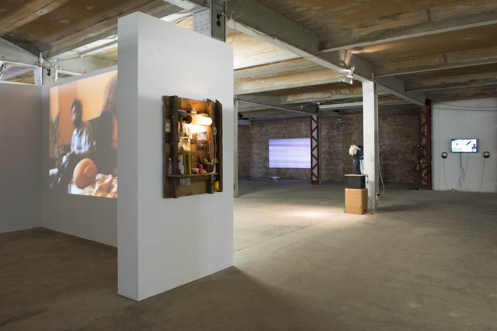 <p>Exhibition View (left-right): Dafna Maimon, Ethan Hayes-Chute, Jonathan Rescigno, Okka-Esther Hungerbühler, Kai Zimmer</p>