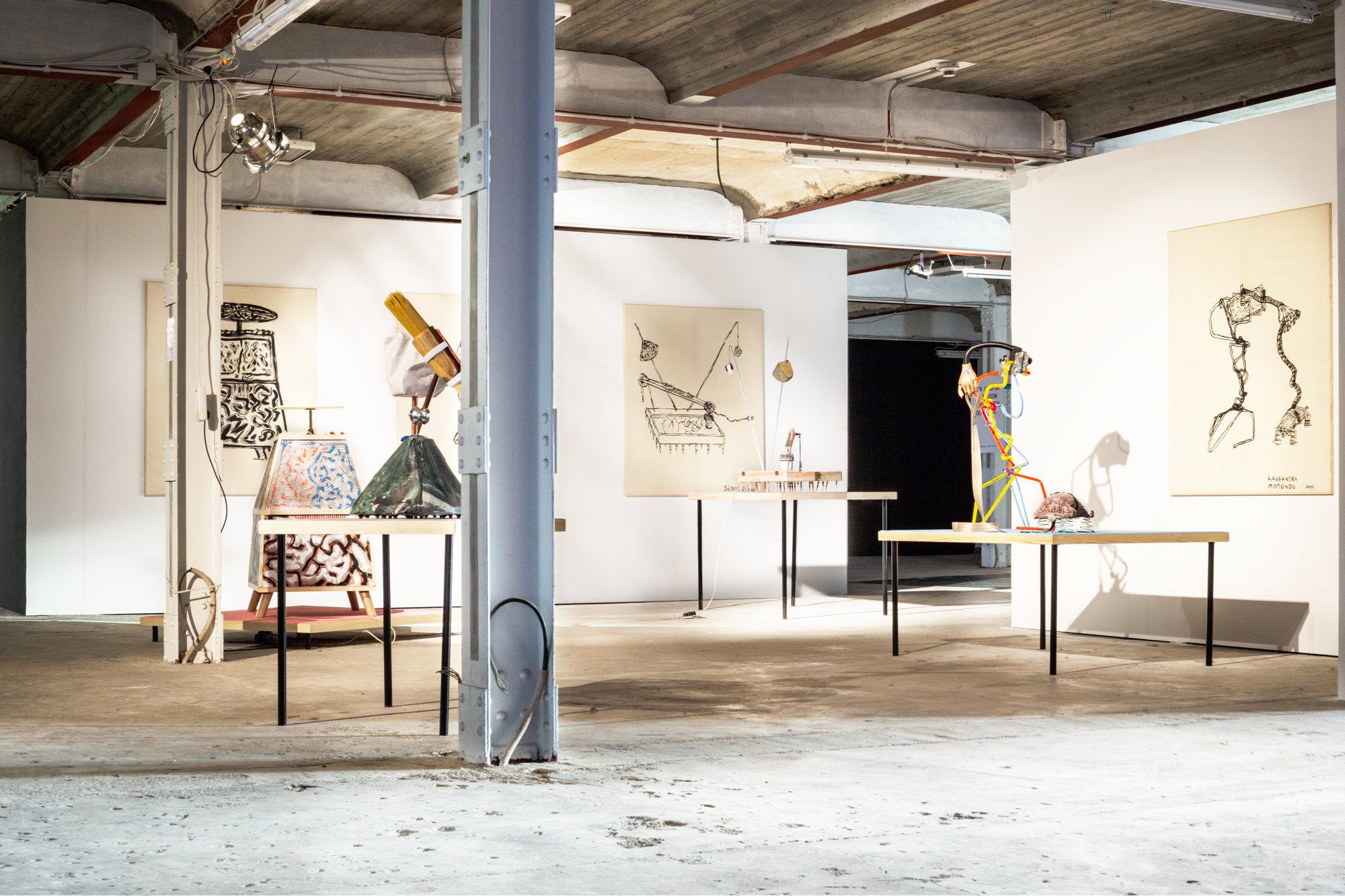 "<p>Aurora Sander, installation view ""Fantastic Four: A Scandinavian Nuclear Family,"" 2016</p>"
