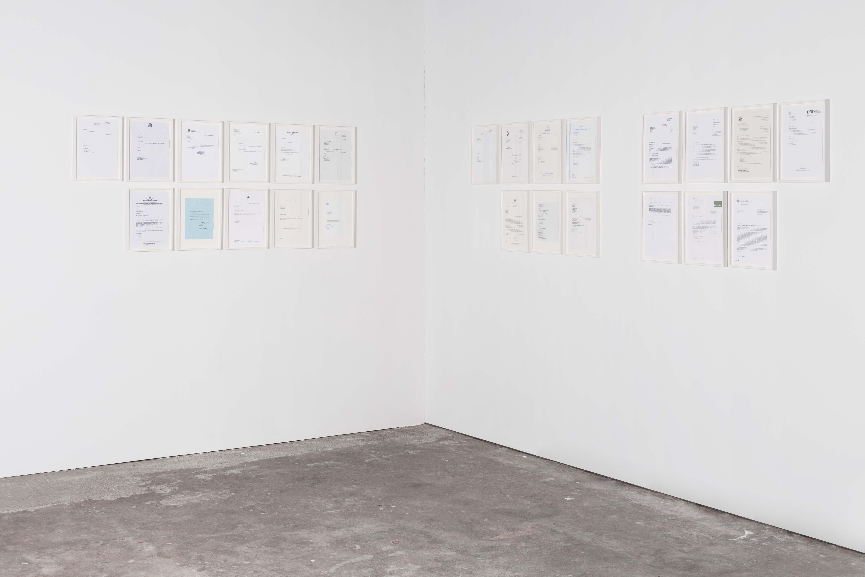 "<p>Martin John Callanan, installation view ""Letters,"" 2004-2006</p>"