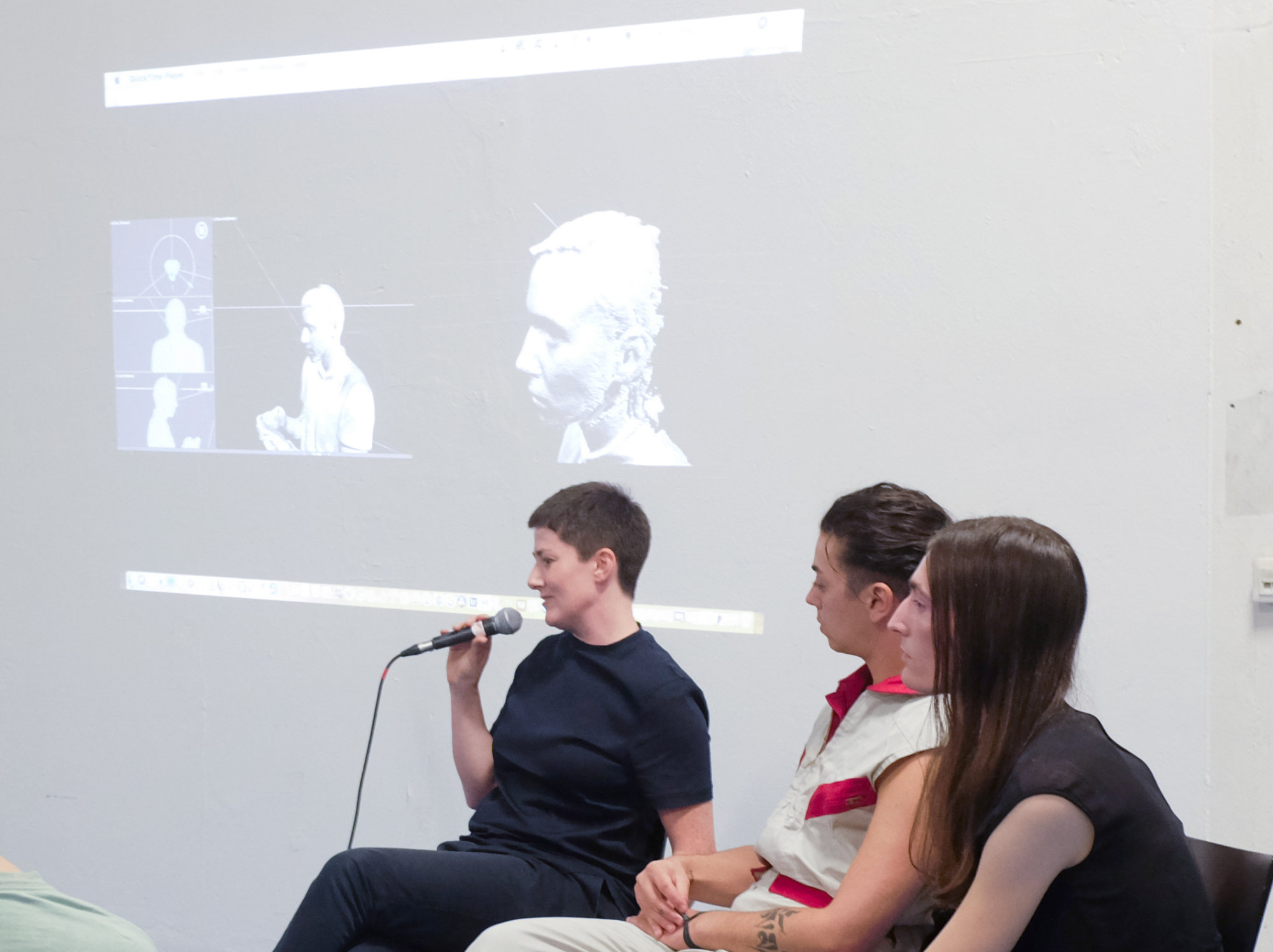 "<p><b>Dreaming Trans-futurism and Reality Now<br /> </b><b></b><strong>Talk</strong> with Doireann O'Malley (Berlin Art Prize 2018 nominee), Lou Drago (author, curator), and Pedro Marum (curator, film programmer, DJ) of Xenoentities Network, Elliott Cennetoglu (lighting designer), Pol Merchan (artist, filmmaker), Mateja Hoffman (photographer, stylist)</p> <p>Doireann O'Malley, nominated artist and director of <i>Prototypes</i> in conversation with the creators and protagonists of the film about the methodologies, themes, experiences and processes explored in the work Actor Lou Drago on <i>Prototypes</i>: ""Within the first moments of <i>Prototypes</i> the viewer is confronted with the absurdity of society's reduction of gender to a binary system as a voiceover enumerates the various chromosome composites that humans possess, several combinations of which do not equate to the limited categorizations of male/female. It is quickly made clear that there is much more involved in understanding the complexity of gender.""</p>"