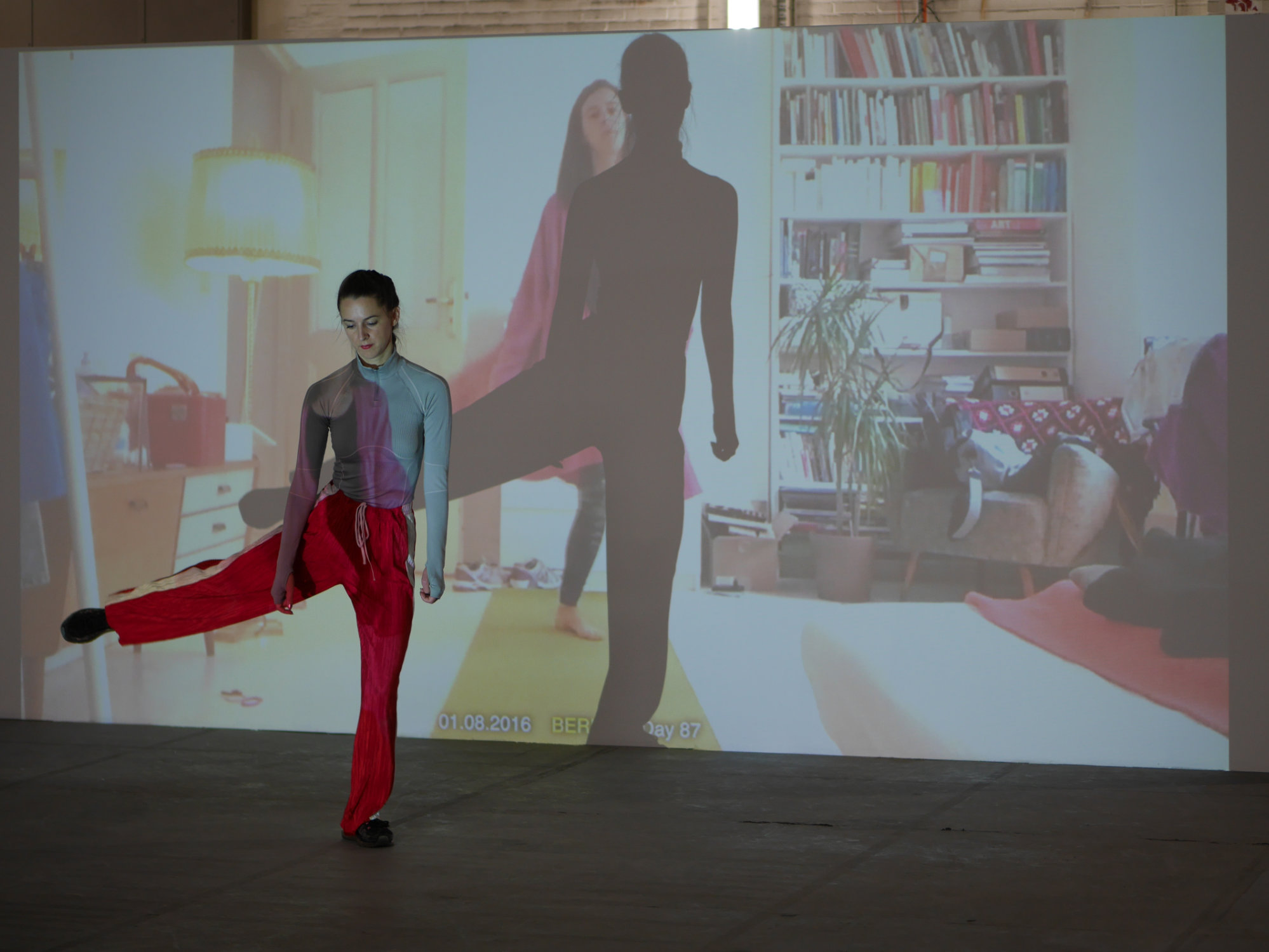 <p><b><i>365 routines<br /> </i></b><b>Dance Performance </b>with Nina Kurtela</p> <p>In <i>365 routines</i> artist and dancer Nina Kurtela and her longtime dance partner Hana Erdman sought to create a conceptual work based on a dance phrase: a short choreographic fragment with the feeling of a beginning and an end. In this case, the phrase is eight beats at 60 BPM. Over the course of a year, the two sent these phrases via cellphone video to each other daily, each reacting to the other's movements. Due to their almost constant travels, they find themselves on opposite sides of the world, with the development of <i>365 routines</i> becoming both a form of communication and one of the only constants in their global lives. The culmination of the individual videos was projected at the Berlin Art Prize exhibition. At this event Nina Kurtela performed the entirety of the one-year-choreography live with the video work.</p>
