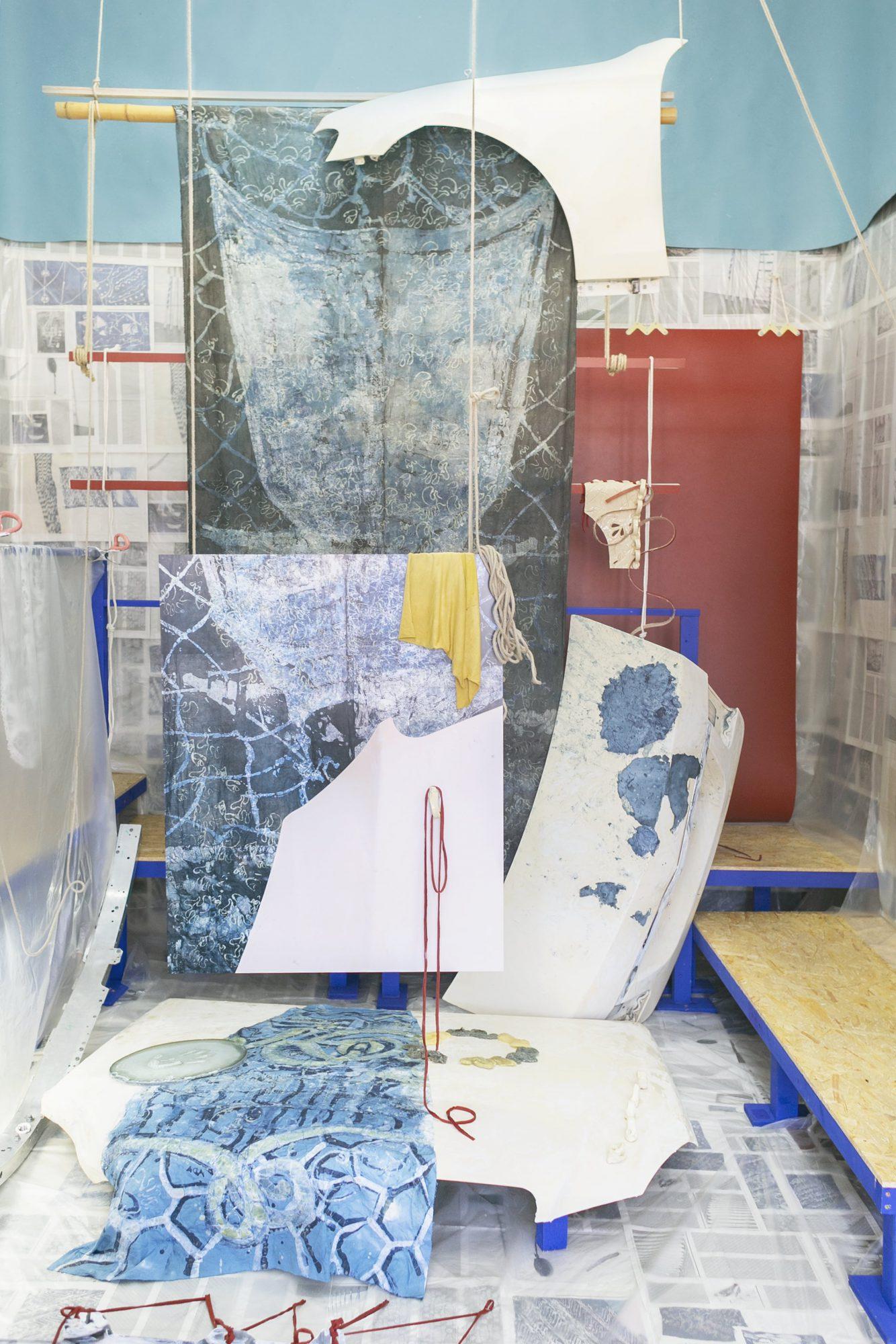 <p>Ada Van Hoorenbeke, Goods & Services, 2019, installation view, photo: Anastasia Muna</p>
